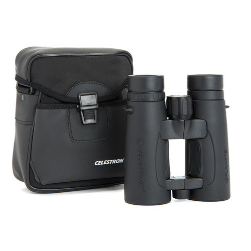 The Celestron 10x42 Granite ED binocular comes with its own rugged carrying case.