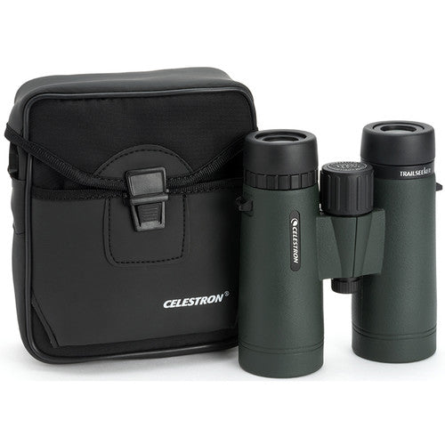 The Celestron 10x42 TrailSeeker binocular arrives with its own carrying case for travel and storage.