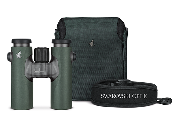 The Swarovski 8x30 CL Wild Nature binocular comes with its own carry case and neck strap.