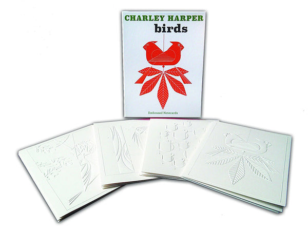 Charley Harper Embossed Bird Notecards