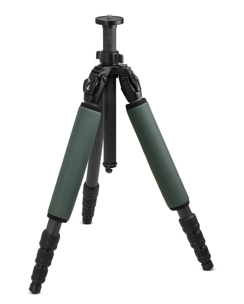 The Swarovski CCT Compact Carbon Tripod Legs offer a portable design without sacrificing stability.