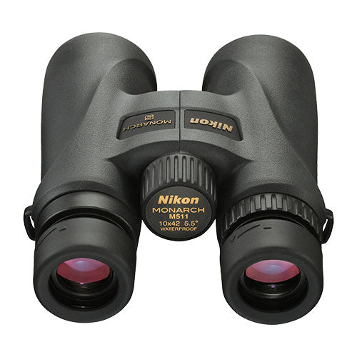 The Nikon Monarch 5 10x42 binocular's eye relief easily accommodates glasses wearers.