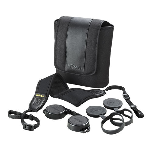 The Nikon Monarch 7 10x42 comes with a full set of accessories.