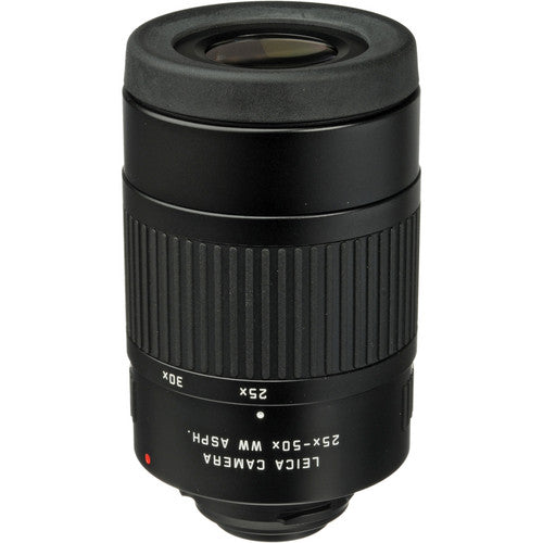 The Leica 25-50x WW Aspheric Eyepiece for Televid spotting scopes provides a top-notch viewing experience.
