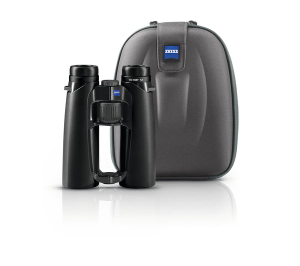 The Zeiss Victory SF 8x42 binocular arrives with its own carry case.