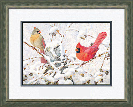 Cardinals and Memories - Northern Cardinals