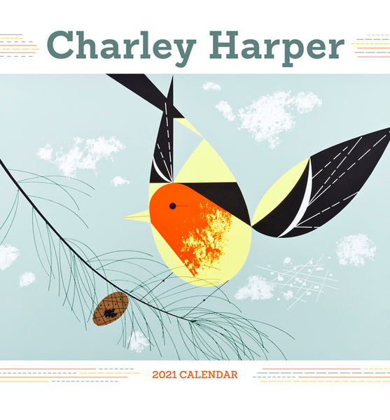 Shop the Charley Harper 2021 Mini Wall Calendar at Redstart Birding.