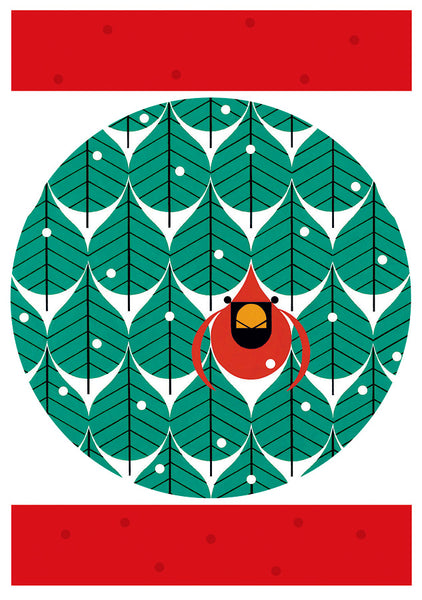 Shop for Charley Harper Cool Cardinals Holiday Cards at Redstart Birding.