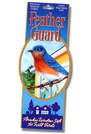 The FeatherGuard stops birds from hitting your windows.