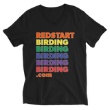 Redstart Birding with Pride Unisex V-Neck Shirt