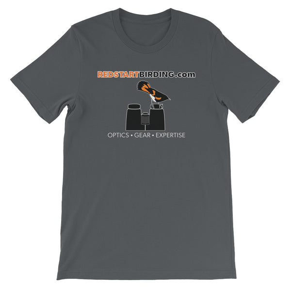 Redstart Birding Zoomed Logo Short-Sleeve Unisex T-Shirt