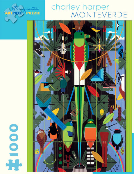 Shop the Charley Harper Monteverde Puzzle at Redstart Birding.