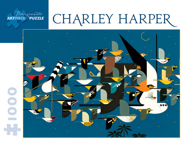 Shop the Charley Harper Mystery of the Missing Migrants Puzzle at Redstart Birding.