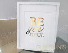 Beautiful Gold Foil Print