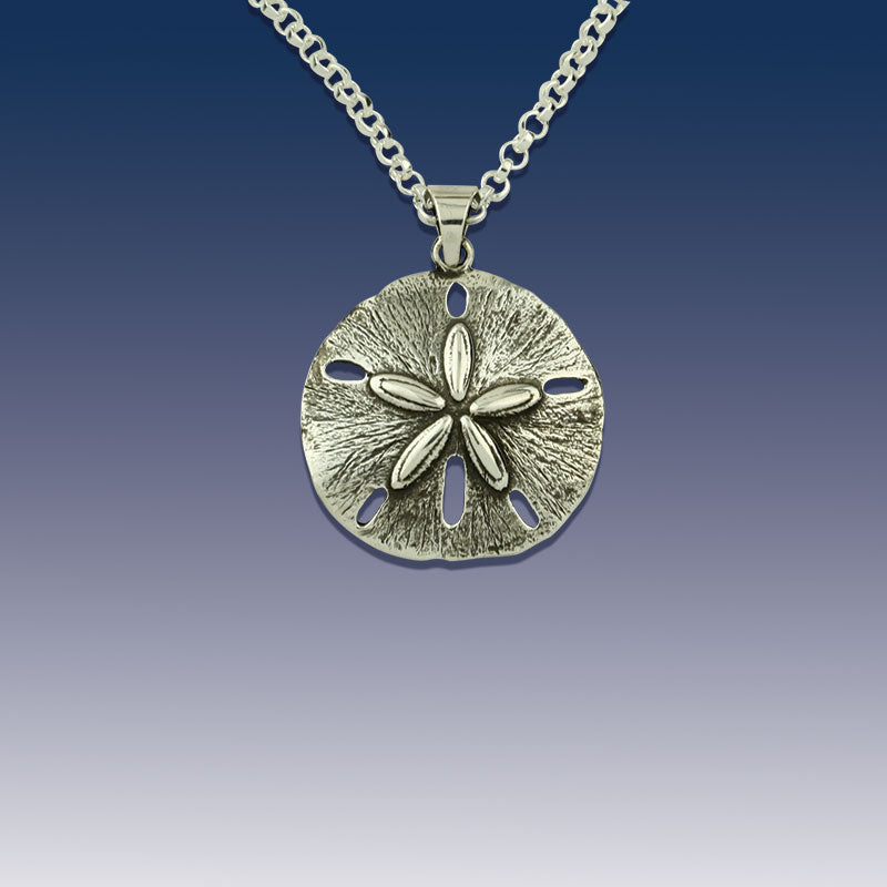 Sand dollar jewelry collection caligodesign sand dollar pendant necklace sterling silver aloadofball Images
