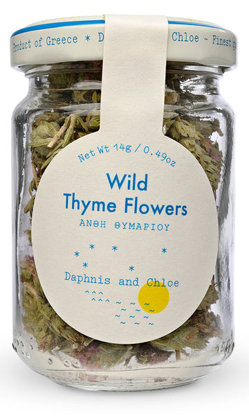 Wild Greek Thyme Flowers from Daphnis and Chloe - Front Label