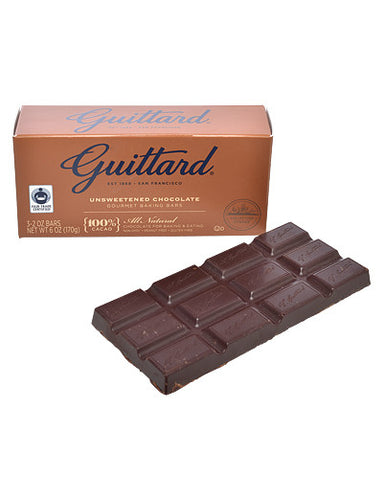 Unsweetened Chocolate Baking Bars from Guittard