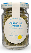 Aegean Isle Oregano from Daphnis and Chloe - Front of Jar