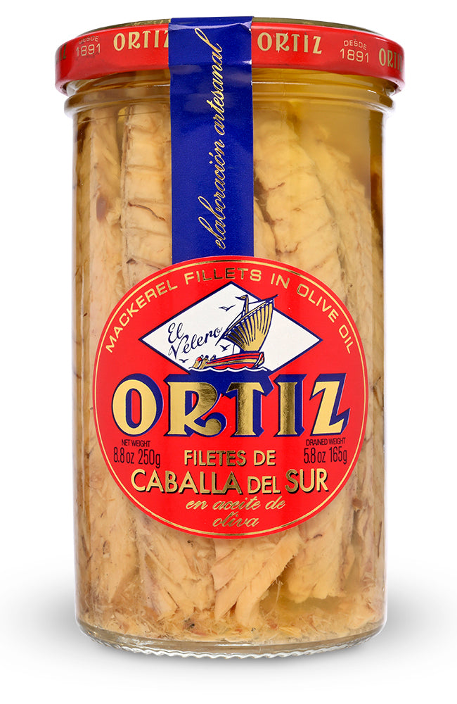 Mackerel Fillets in Olive Oil from Conservas Ortiz