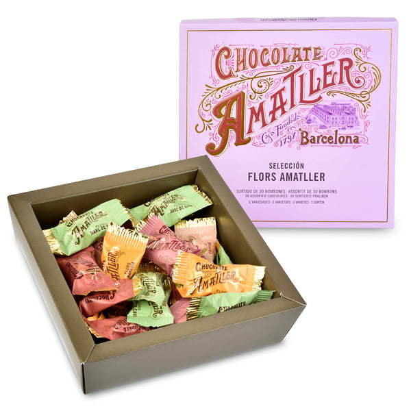 Assorted Chocolate Gift Box from Chocolate Amatller - Open Box with Chocolates