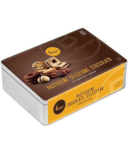 Italian Chocolate Cookie Gift Tin from Pasticceria Filippi