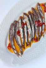 Spicy Anchovies in Olive Oil from IASA - Outside of the Jar