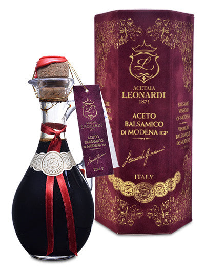 Cruet of Aged Balsamic in Velvet Gift Box from Acetaia Leonardi