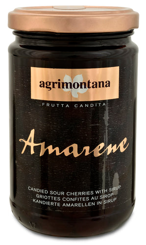 Candied Sour Amarene Cherries in Syrup from Agrimontana