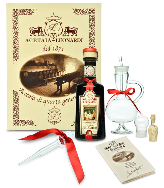 Acetaia Leonardi 10 Year Balsamic Gift Set with Glass Amphora