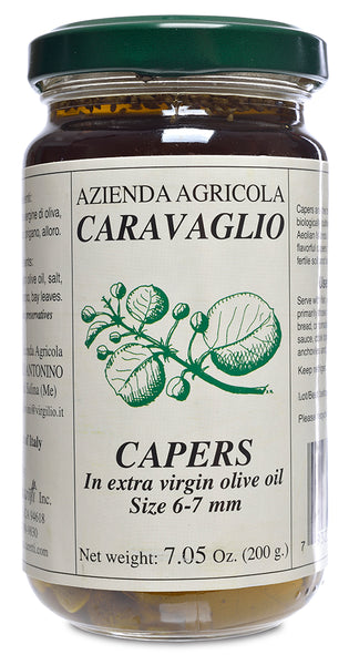 Marinated Capers in Olive Oil with Herbs from Caravaglio