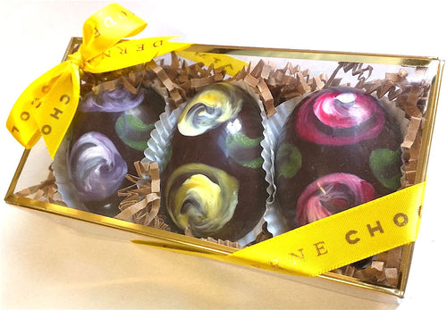 Dark Chocolate Fauvergé Easter Eggs from Chocolat Moderne