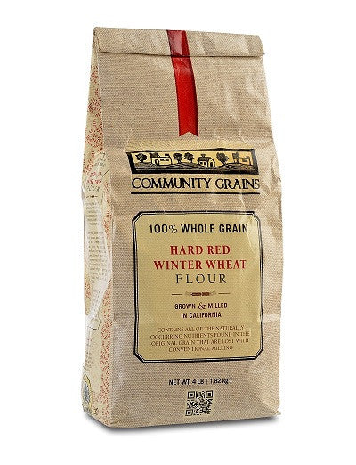 Whole Grain Red Winter Wheat Flour from Community Grains