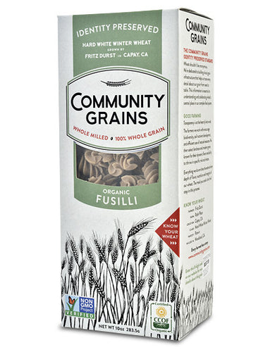 Community Grains 'IP' Organic Fusilli Whole Grain Pasta