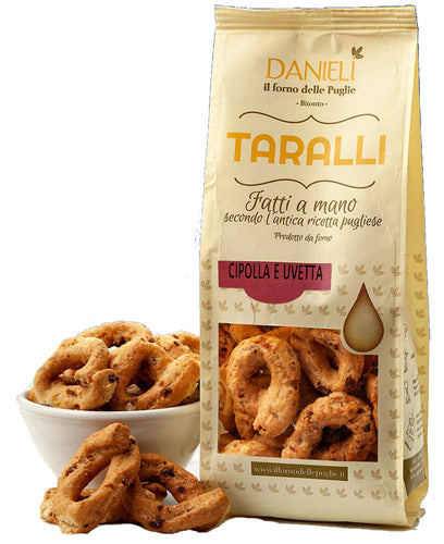 Taralli Crackers with Onion & Raisin from Danieli