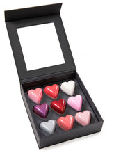 Feve 9-Piece Assorted Chocolate Heart Gift Box - Open