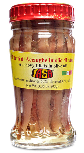 Anchovy Fillets in Olive Oil from IASA - 3.35 oz (95g)