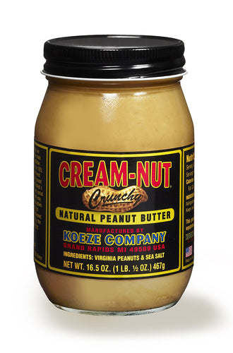 Koeze Cream-Nut Natural Crunchy Peanut Butter