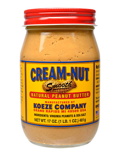 Koeze Cream-Nut Natural Smooth Peanut Butter