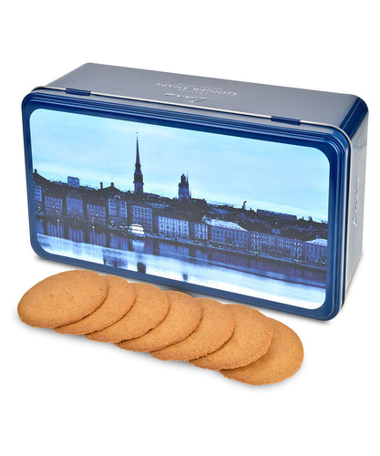 Swedish Ginger Snap Cookie Gift Tin from Lars Own