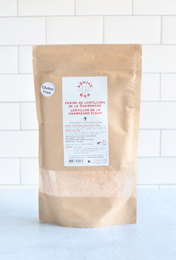 French Pink Lentil Flour from Louise Bon