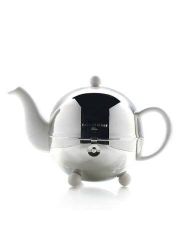 1930 Art Deco 3-Cup White Teapot by Mariage Frères