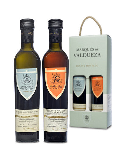 Marqués de Valdueza Extra Virgin Olive Oil & Vinegar Gift Set