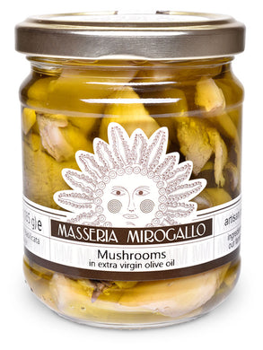 Mushrooms in Extra Virgin Olive Oil from Masseria Mirogallo