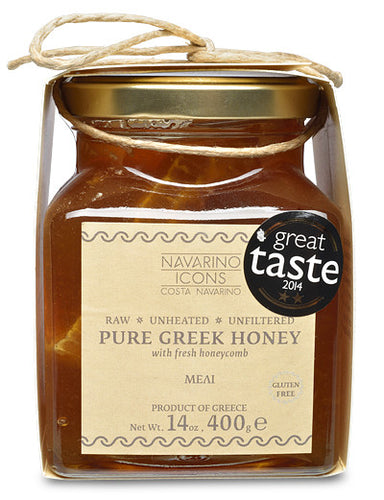 Pure Greek Honey with Honeycomb