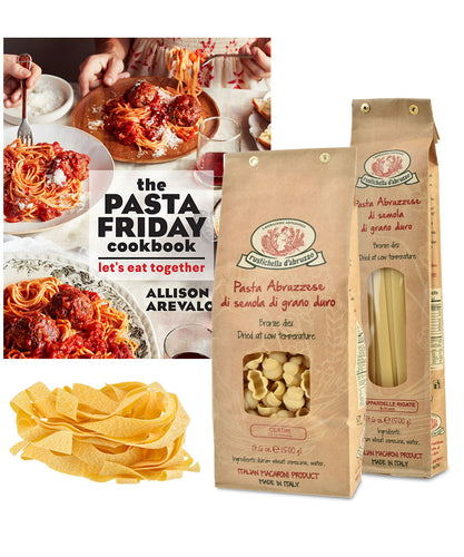 Pasta Friday Cookbook & Pasta Gift Set