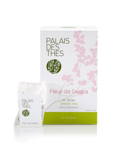 Fleur de Geisha Green Tea in Bags from Palais des Thés