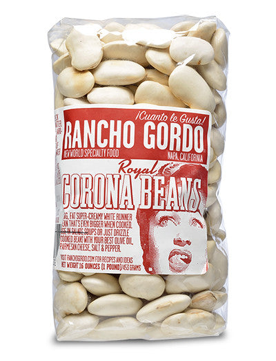 Royal Corona Beans from Rancho Gordo