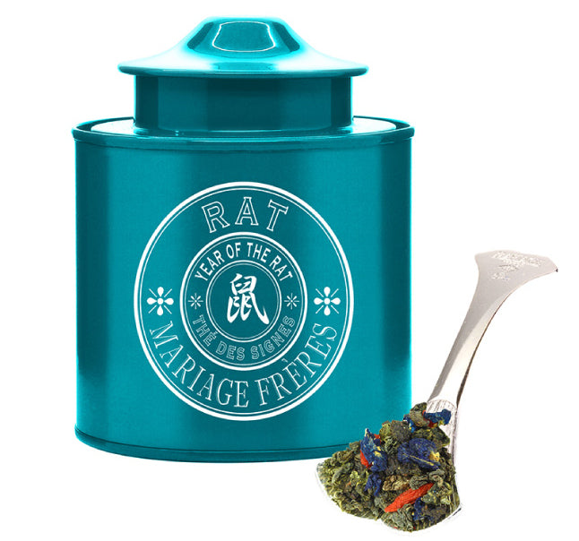 Organic Blue Tea with Cornflowers & Goji Berries – Year of the Loving Rat Tea by Mariage Frères