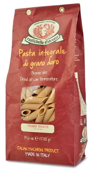 Whole Wheat Penne Rigate Pasta from Rustichella d'Abruzzo