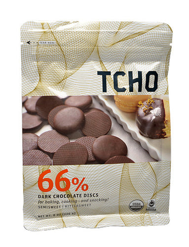TCHO 66% Organic Dark Chocolate Discs